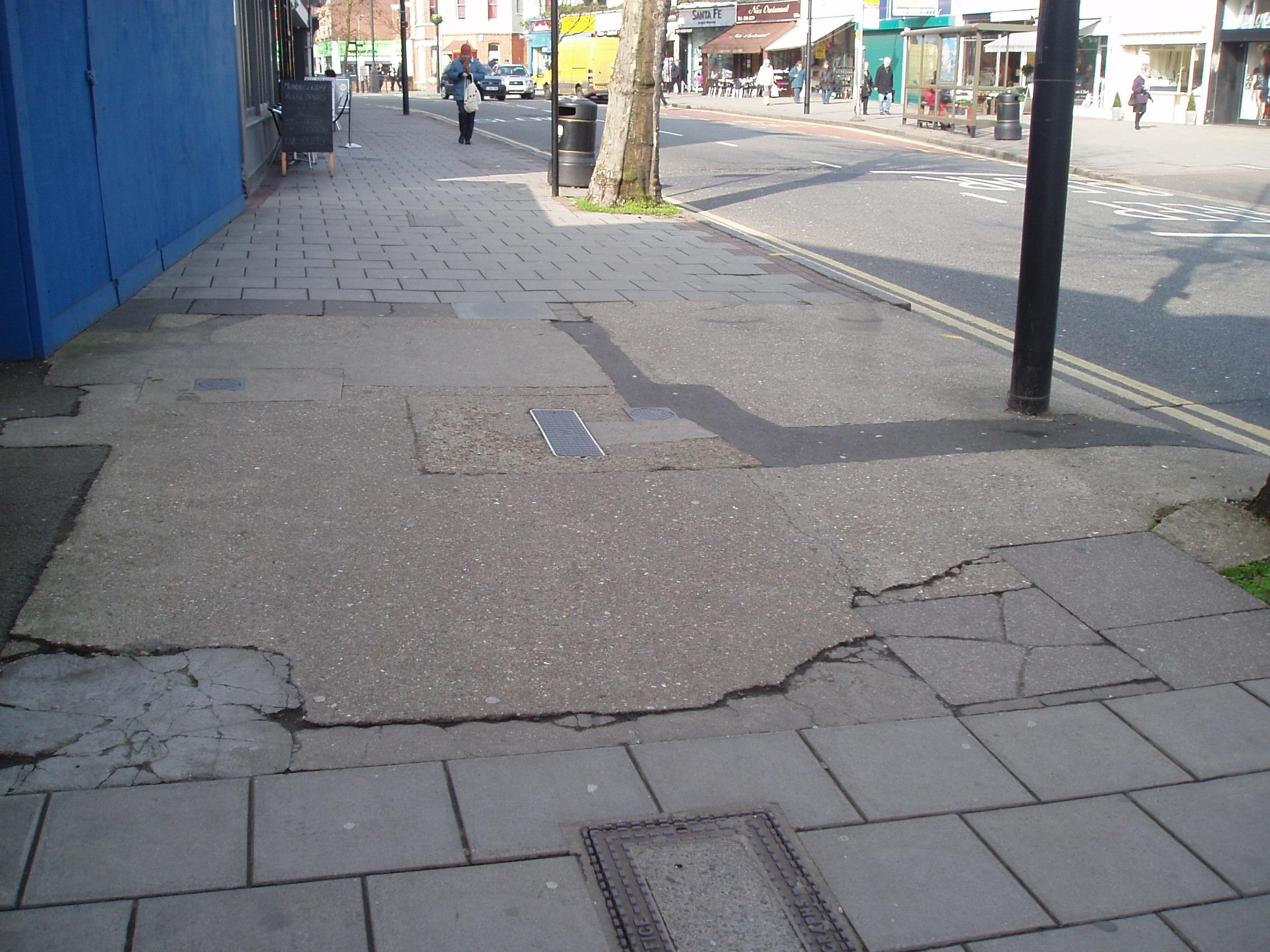 Repair pavement
